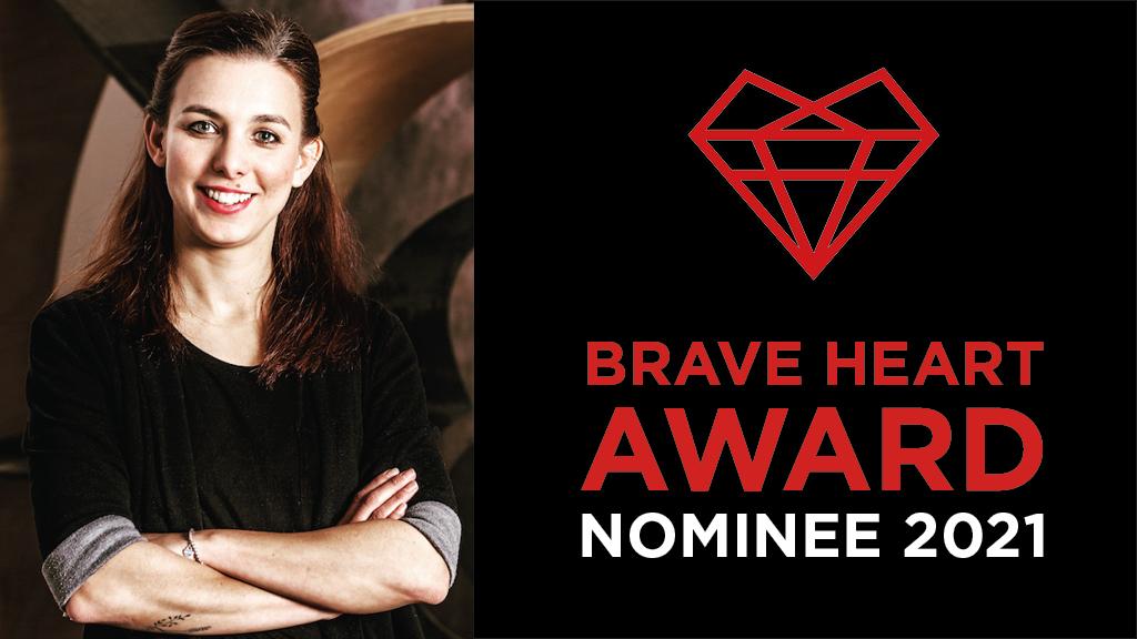 Nominierung Brave Heart Award für Sarah Mooslechner